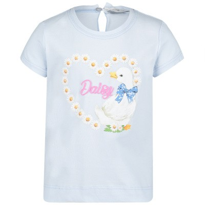 Picture of MonnaLisa 313601S5 baby shirt light blue
