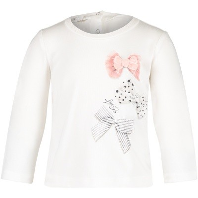 Afbeelding van Liu Jo H68039BOW baby t-shirt off white