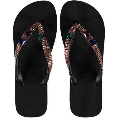 Afbeelding van UZURII DISCO COPPER dames slippers zwart