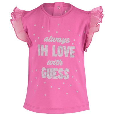 Picture of Guess A91I08 baby shirt fuchsia
