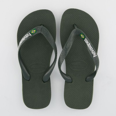 Picture of Havaianas 4110850 A mens flipflops army