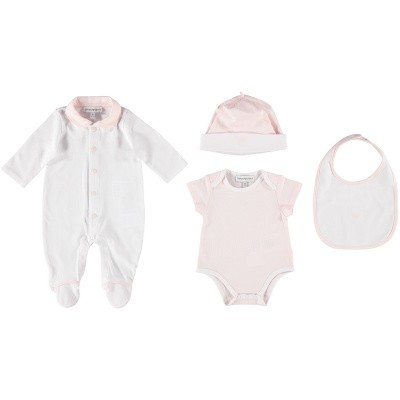 Picture of Armani 8NHV13M baby playsuit light pink