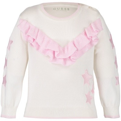 Afbeelding van Guess A84R03 baby trui off white