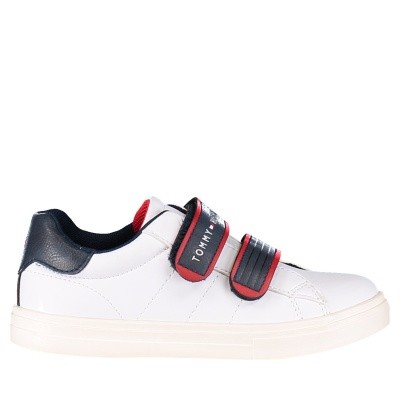 Picture of Tommy Hilfiger T1B430088 kids sneakers white
