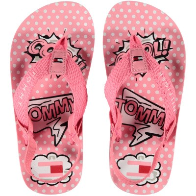 Picture of Tommy Hilfiger 30199 kids flipflops light pink