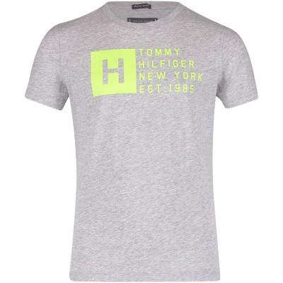 Afbeelding van Tommy Hilfiger KB0KB04537 kinder t-shirt licht grijs