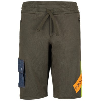 Picture of Dolce & Gabbana L4JQE7 kids shorts army