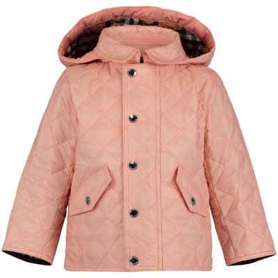 Picture of Burberry 8003472 baby coat light pink