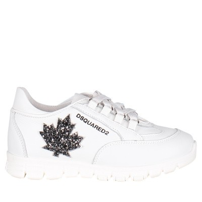 Picture of Dsquared2 59692 GLITTER kids sneakers white