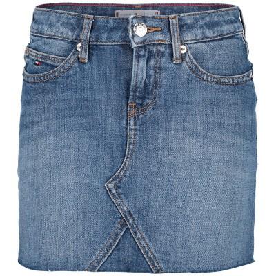Afbeelding van Tommy Hilfiger KG0KG04300 kinderrokje jeans