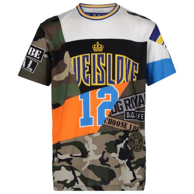 Picture of Dolce & Gabbana L4JT9A kids t-shirt army