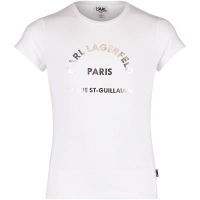 Afbeelding van Karl Lagerfeld Z15162 kinder t-shirt wit