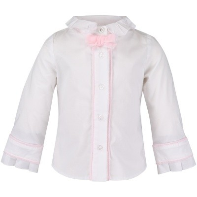 Picture of Lapin 82E2551 baby blouse white