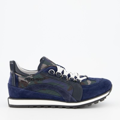 Picture of Dsquared2 62384 kids sneakers navy