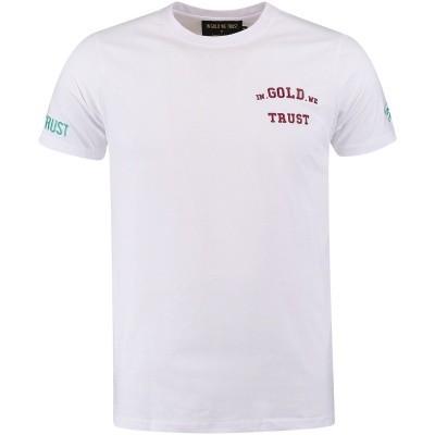 Afbeelding van in Gold We Trust FA047 heren t-shirt wit