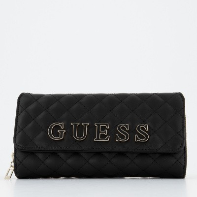 Picture of Guess SWVG7408620 womens wallet black