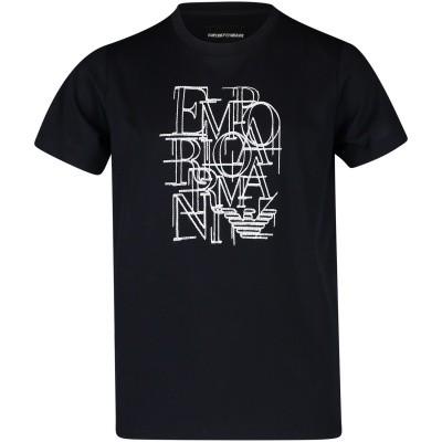 Afbeelding van Armani 6Z4TB8 kinder t-shirt navy