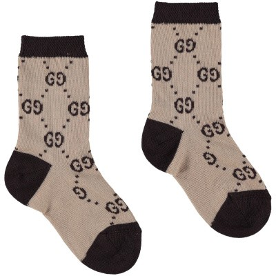 Picture of Gucci 557012 baby socks beige