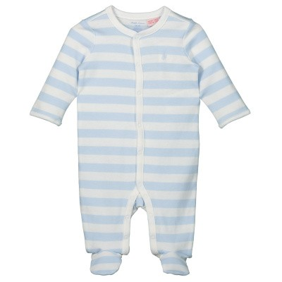 Picture of Ralph Lauren 735010 baby playsuit light blue
