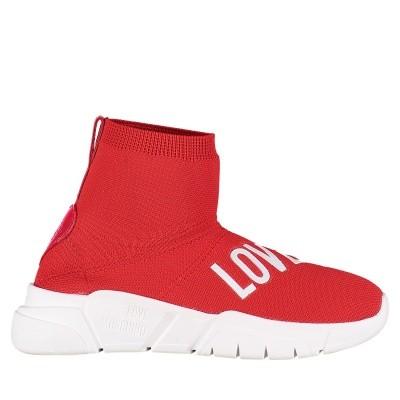 Afbeelding van Moschino JA15183G16 dames soksneakers rood