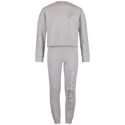 Picture of Moncler 8858150 kids sweatsuit light gray