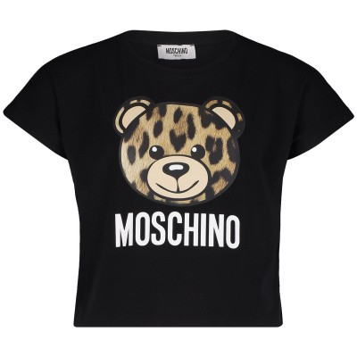 Picture of Moschino HDM02S kids t-shirt black