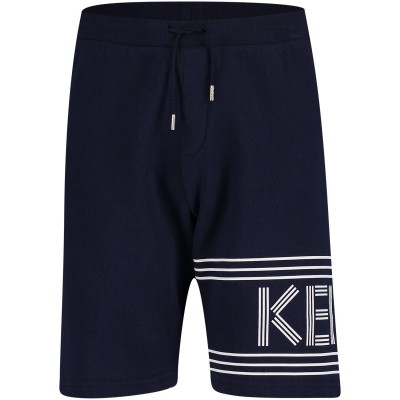 Picture of Kenzo KN25608 kids shorts navy