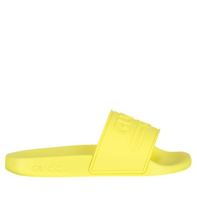 Picture of Gucci 553073 kids flipflops fluoro yellow