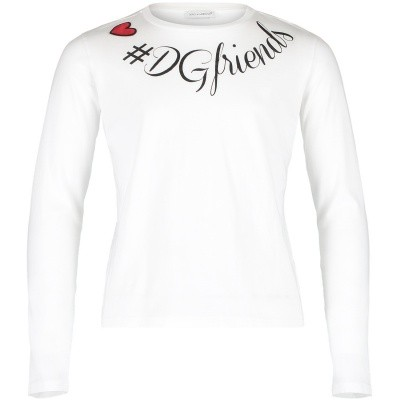 Picture of Dolce & Gabbana L5JTAY kids t-shirt white
