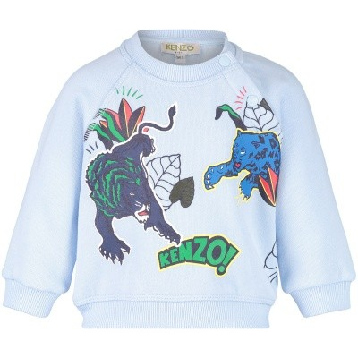 Picture of Kenzo KM15567 baby sweater light blue