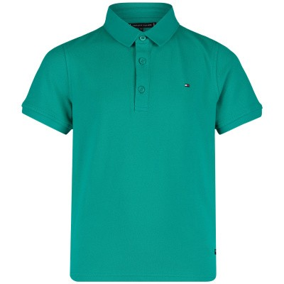 Picture of Tommy Hilfiger KB0KB04527 kids polo shirt green