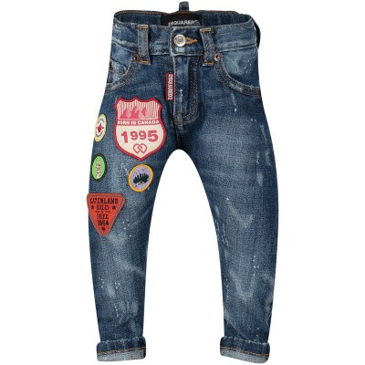 Picture of Dsquared2 DQ01TC D00U2 baby pants jeans