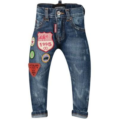 Afbeelding van Dsquared2 DQ01TC D00U2 babybroekje jeans