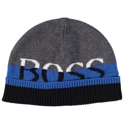 Afbeelding van Boss J01095 babymutsje cobalt blauw