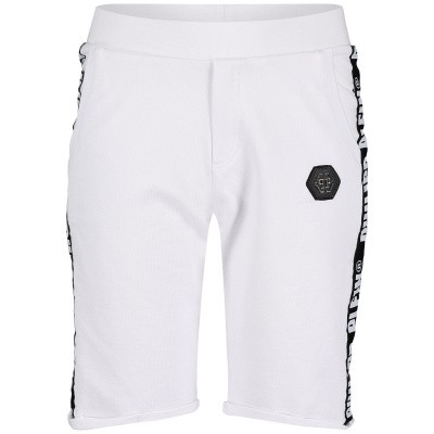 Picture of Philipp Plein BJT0223 kids shorts white