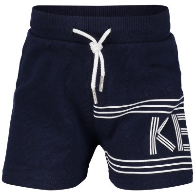 Picture of Kenzo KN25608BB baby shorts navy