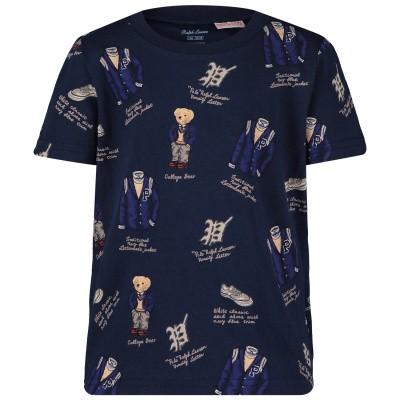 Picture of Ralph Lauren 739069B baby shirt navy