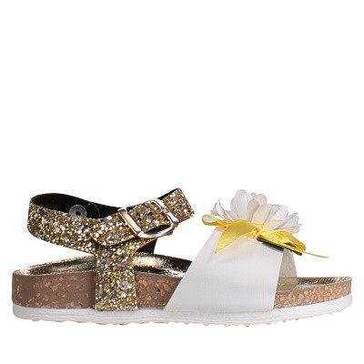 Picture of MonnaLisa 8C3016 kids sandals gold