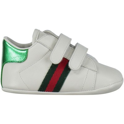 Picture of Gucci 500852 baby sneakers white