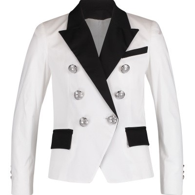 Picture of Balmain 6K2094 kids jacket white