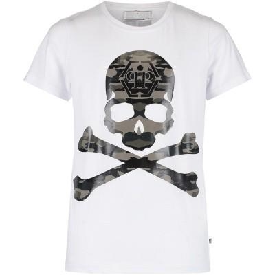 Afbeelding van Philipp Plein BTK0522 kinder t-shirt wit