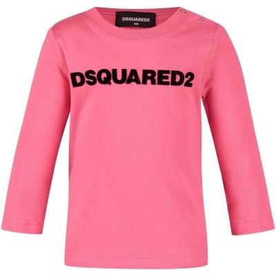 Afbeelding van Dsquared2 DQ02ZQ baby t-shirt roze