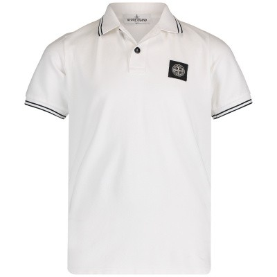 Picture of Stone Island 701621348 kids polo shirt white