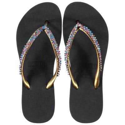 Afbeelding van UZURII BLUE RED CLASSIC dames slippers zwart