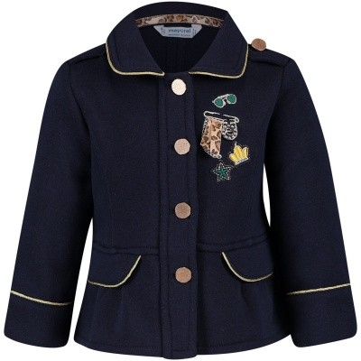 Picture of Mayoral 2470 baby vest navy