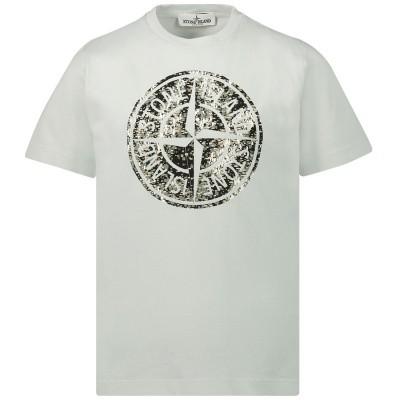 Afbeelding van Stone Island 711621057 kinder t-shirt licht grijs
