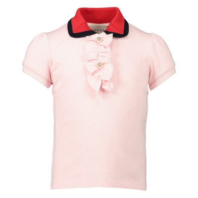 Picture of Gucci 552351 baby poloshirt light pink