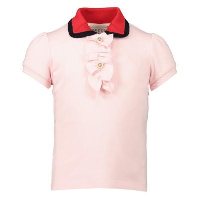 5c5e798b7e6 99,95 Afbeelding van Gucci 552351 baby polo licht roze