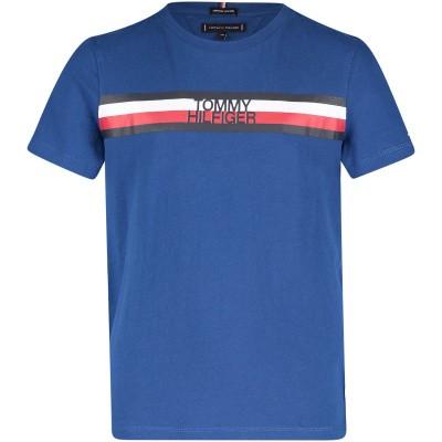 Afbeelding van Tommy Hilfiger KB0KB04678 kinder t-shirt cobalt blauw
