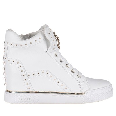 Picture of Guess FL5FR2LEA12 womens sneakers white